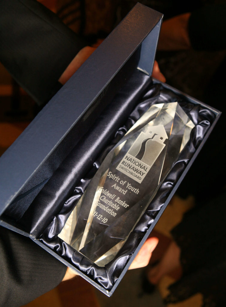 Honoring Coldwell Banker for Supporting Runaway Youth with the Spirit of Youth Award