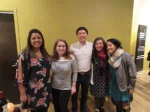 Andrea, Amelia, Jason Chu and Elizabeth Montalvo at our crisis services volunteer appreciation event