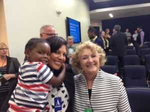 Actress Sara Ramirez & True Colors Fund Board Member Participant at White House Briefing with Maureen Blaha