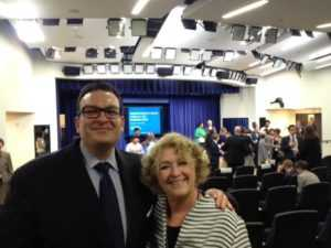 Rafael Lopez, Commissioner, ACYF, US Dept. of Health & Human Services with Maureen Blaha at White House Briefing on Ending Youth Homelessness