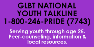 GLBT National Youth Talkline - For LGBT Youth and At-Risk Youth