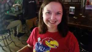 Crisis Service Volunteer of the Month Nicole Anslover Supporting Her Favorite Team