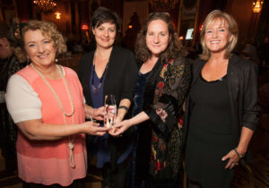 Christina Van Pelt (far right) at Spirit of Youth 2015 with (from left) Executive Director Maureen Blaha, and Spirit of Youth Award recipients Kirsten Kelly and Anne Demare