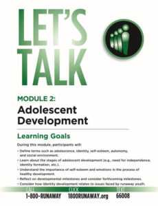 Adolescent Development - Module 2 - Let's Talk - Runaway Prevention Curriculum