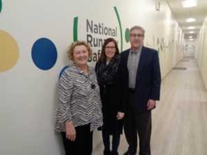 Rep Ann Williams with Executive Dir. Maureen Blaha and Board Chair Randall Royer