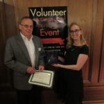 Volunteer of the year 2017 Ken Lavelle and volunteer coordinator Becca Bowlin