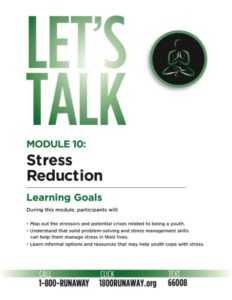 Stress Management for Teens and Young Adults - Module 10 - Stress Reduction