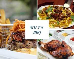 Milt's BBQ | Menu Items | NRS Donor of the Month